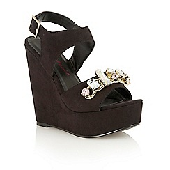 Dolcis - Black 'Marley' high wedge sandals