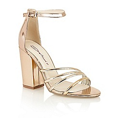 Dolcis - Rose Gold 'Adeline' high heeled sandals