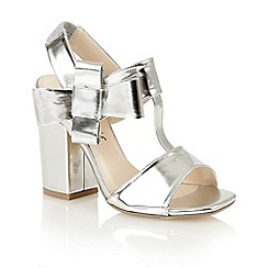 Dolcis - Silver 'Abella' high heeled sandals