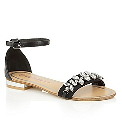 Dolcis - Black 'Wind' slip-on ankle strap sandals