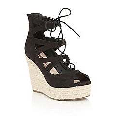 Dolcis - Black 'Hilary' espadrille wedge sandals