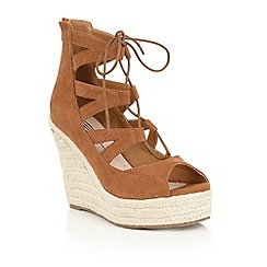 Dolcis - Tan 'Hilary' espadrille wedge sandals