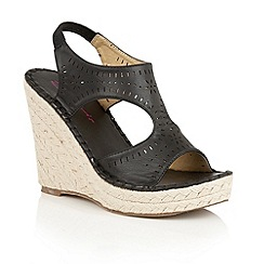 Dolcis - Black 'Hallie' espadrille wedge sandals