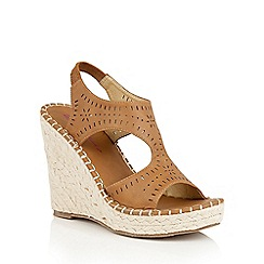 Dolcis - Tan 'Hallie' espadrille wedge sandals