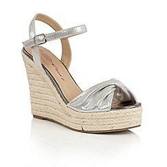 Dolcis - Silver 'Holly' slip-on high wedged sandals