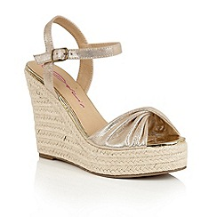 Dolcis - Gold 'Holly' slip-on high wedged sandals