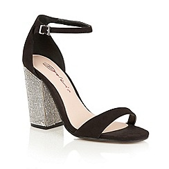 Dolcis - Black 'Tiara' high block heeled sandals