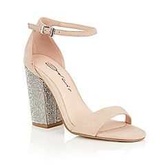 Dolcis - Nude 'Tiara' high block heeled sandals