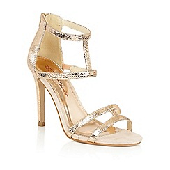 Dolcis - Rose Gold 'Tiffany' high heeled stiletto sandals