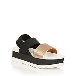Dolcis - Rose Gold 'Zara' slip-on flatform sandals