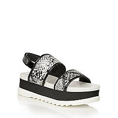 Dolcis - Black 'Zenia' flatform wedge sandals