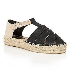 Dolcis - Black 'Blake' espadrille gladiator sandals