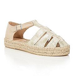 Dolcis - Gold 'Blake' espadrille gladiator sandals