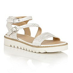 Dolcis - Silver 'Wonder' multi strap buckle sandals