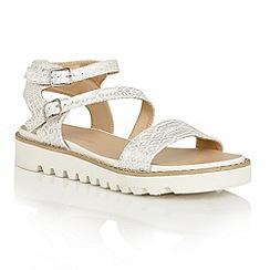 Dolcis - Silver 'Wonder' multi strap buckle sandals