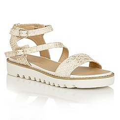 Dolcis - Gold 'Wonder' multi strap buckle sandals