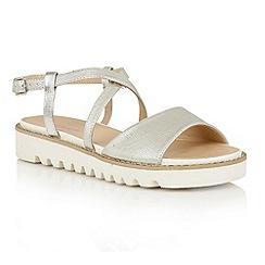 Dolcis - Silver 'Wren' platform strappy sandals