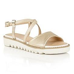 Dolcis - Gold 'Wren' platform strappy sandals