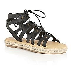 Dolcis - Black 'Vera' gladiator espadrille sandals