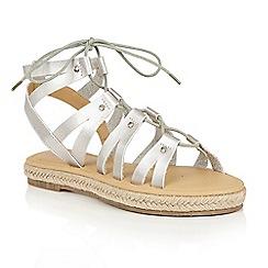 Dolcis - Silver 'Vera' gladiator espadrille sandals