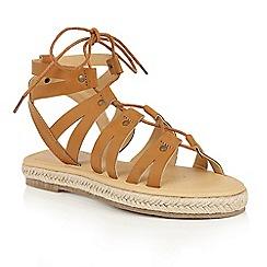 Dolcis - Tan 'Vera' gladiator espadrille sandals