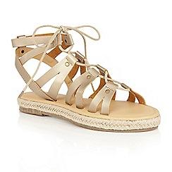 Dolcis - Gold 'Vera' gladiator espadrille sandals