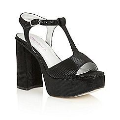 Dolcis - Black 'Valentina' platform T-bar sandals