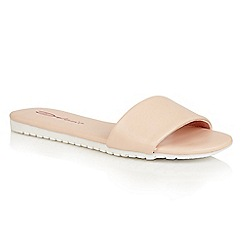 Dolcis - Pink 'Willa' flat cleated beach sandals
