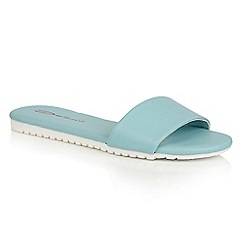 Dolcis - Blue 'Willa' flat cleated beach sandals