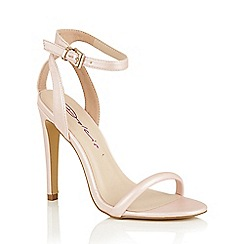 Dolcis - Pink 'Laurie' ankle strap stiletto heeled shoes