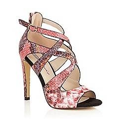 Dolcis - Pink 'Lexi' strappy high heeled sandals