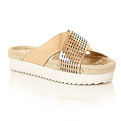 Dolcis - Rose Gold 'Kacy' ladies flatform sandals