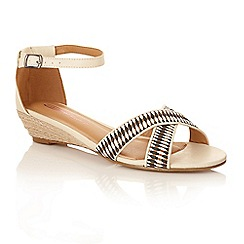 Dolcis - Beige/black 'Shanti' ladies ankle strap sandals