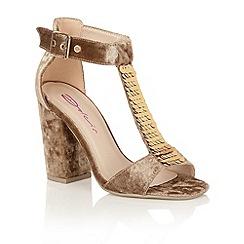 Dolcis - Mink 'Gigi' heeled sandals
