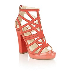 Dolcis - Coral 'Petra' heeled sandals