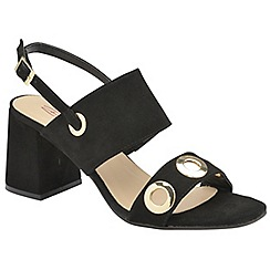 Dolcis - Black 'Naomi' ladies faux suede sandals