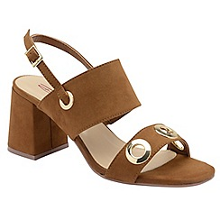 Dolcis - Tan 'Naomi' ladies faux suede sandals