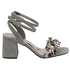 Dolcis - Pewter 'Niamh' ladies high heeled sandals