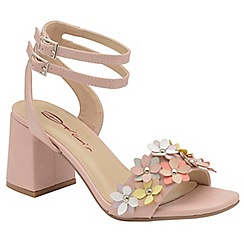 Dolcis - Pink 'Niamh' ladies block heeled sandals