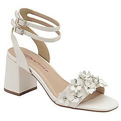 Dolcis - White 'Niamh' ladies block heeled sandals