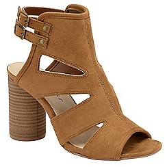 Dolcis - Tan 'Valarie' ladies high heeled strappy sandals