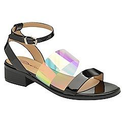 Dolcis - Black 'Beatrix' ladies ankle strap sandals