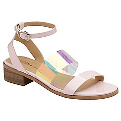 Dolcis - Pink 'Beatrix' ladies ankle strap sandals