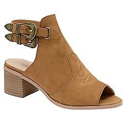 Dolcis - Tan 'Debra' block heeled ankle strap shoes