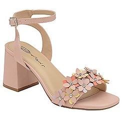 Dolcis - Pink 'Nevina' ladies block heeled floral sandals