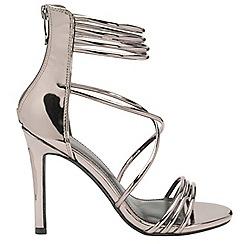 Dolcis - Pewter 'Iliana' ladies stiletto heeled sandals