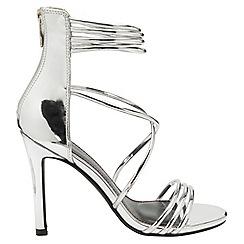 Dolcis - Silver 'Iliana' ladies stiletto heeled sandals