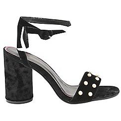 Dolcis - Black 'Blanche' blocked heeled ladies sandals