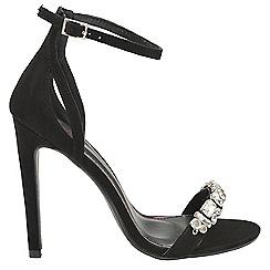 Dolcis - Black 'Adabelle' stiletto heeled ladies sandals