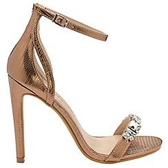 Dolcis - Bronze 'Adabelle' stiletto heeled ladies sandals
